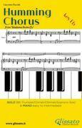 Humming Chorus -  Bb Solo instr. and Piano (Key Eb)