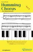 Humming Chorus -  Low Bb Solo instr. and Piano (Key F)