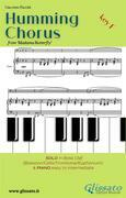 Humming Chorus - Low Bass clef Solo instr. and Piano (Key F)