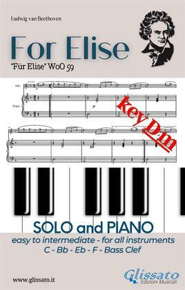For Elise - All instruments and Piano (easy/intermediate) key Dm