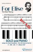 For Elise - All instruments and Piano (easy/intermediate) key Am