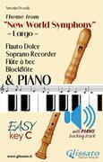 """Largo from """"New World Symphony"""" - Soprano Recorder & Piano + audio track"""