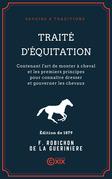 Traité d'équitation
