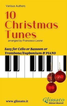 10 Easy Christmas Tunes - solo Cello/Bassoon/Trombone & Piano