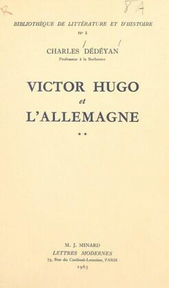 Victor Hugo et l'Allemagne (2)