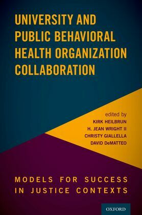 University and Public Behavioral Health Organization Collaboration in Justice Contexts