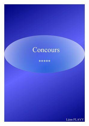 CONCOURS ENSEIGNEMENT***