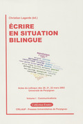 Écrire en situation bilingue–VolumeI