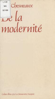 De la modernité