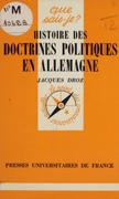 Histoire des doctrines politiques en Allemagne