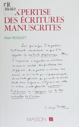 L'Expertise des écritures manuscrites
