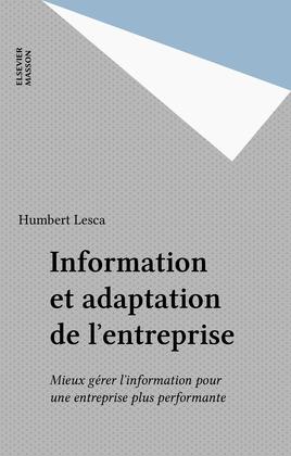 Information et adaptation de l'entreprise