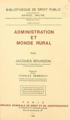 Administration et monde rural