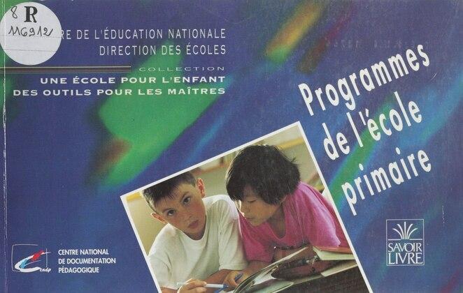 Programmes de l'école primaire