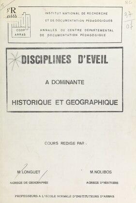 Disciplines d'éveil à dominante historique et géographique