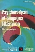 Psychanalyse et langages littéraires