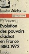 Évolution des pouvoirs d'achat en France