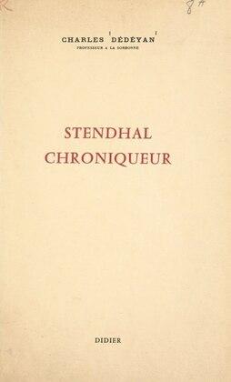 Stendhal chroniqueur