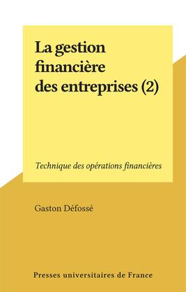 La gestion financière des entreprises (2)