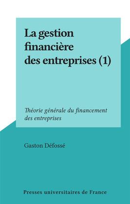 La gestion financière des entreprises (1)