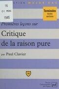 Premières leçons sur Critique de la raison pure, de Kant