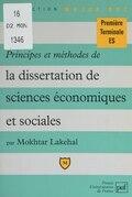 Principes et méthodes de la dissertation de sciences économiques et sociales