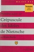 Premières leçons sur Crépuscule des idoles, de Nietzsche