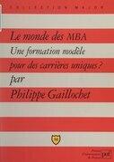 Le monde des MBA