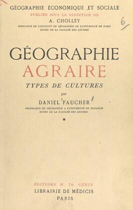 Géographie agraire