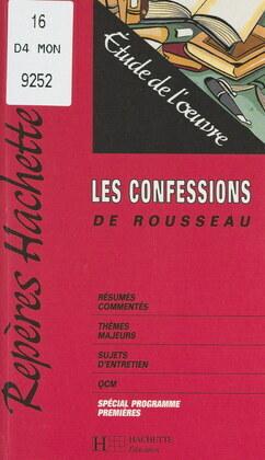 Les Confessions, de Rousseau