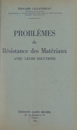 Problèmes de résistance des matériaux avec leurs solutions