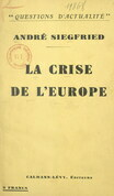 La crise de l'Europe