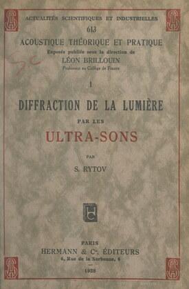 Diffraction de la lumière par les ultra-sons
