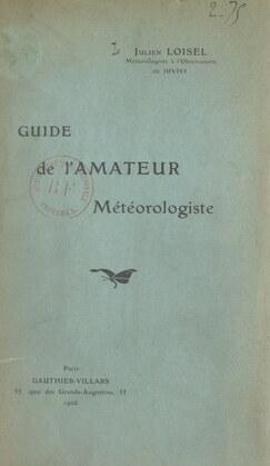 Guide de l'amateur météorologiste