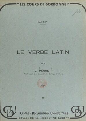 Le verbe latin