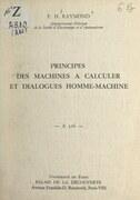 Principes des machines à calculer et dialogues homme-machine