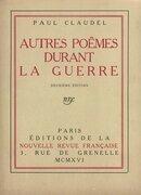 Autres poèmes durant la guerre