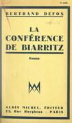 La conférence de Biarritz