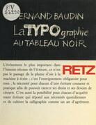 La typographie au tableau noir