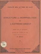 Structure et morphologie de l'Extrême-Orient