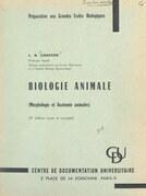 Biologie animale (morphologie et anatomie animales)