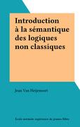 Introduction à la sémantique des logiques non classiques