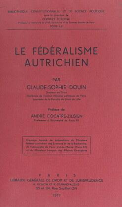 Le fédéralisme autrichien