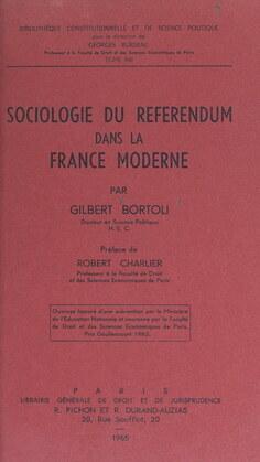 Sociologie du référendum dans la France moderne