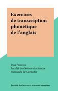 Exercices de transcription phonétique de l'anglais