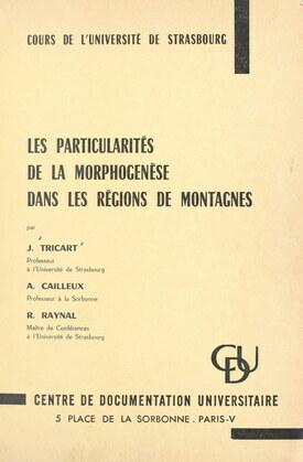 Les particularités de la morphogenèse dans les régions de montagnes
