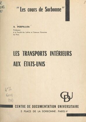 Les transports intérieurs aux États-Unis