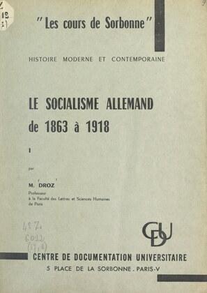 Le socialisme allemand de 1863 à 1918