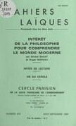Intérêt de la philosophie pour comprendre le monde moderne