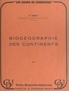 Biogéographie des continents